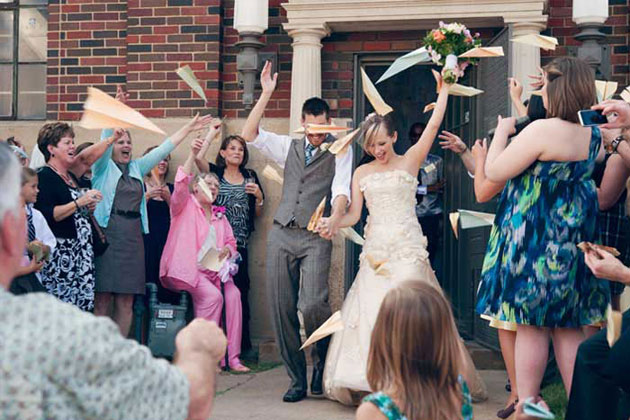 Paper Airplane Wedding Exit